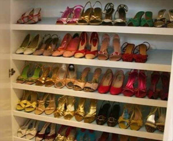 Best ideas about DIY Shoe Rack For Closet . Save or Pin 10 DIY Simple Shoe Rack Ideas Now.
