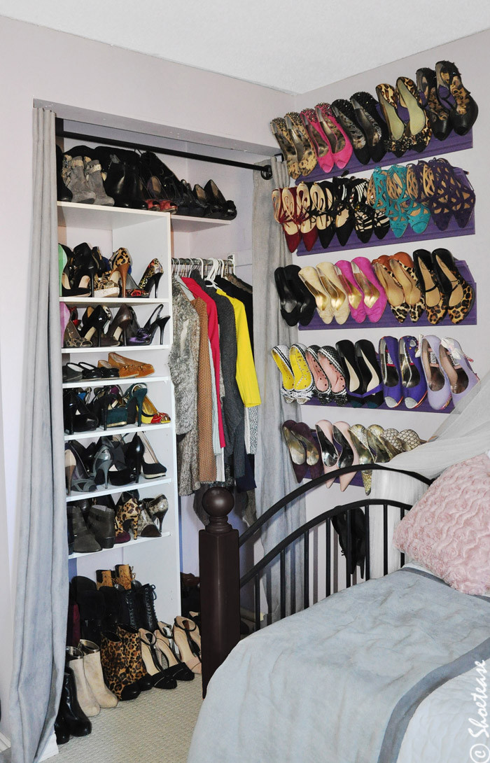 Best ideas about DIY Shoe Rack For Closet . Save or Pin Toronto Shoe Closet with DIY shoe Storage inspired by Now.