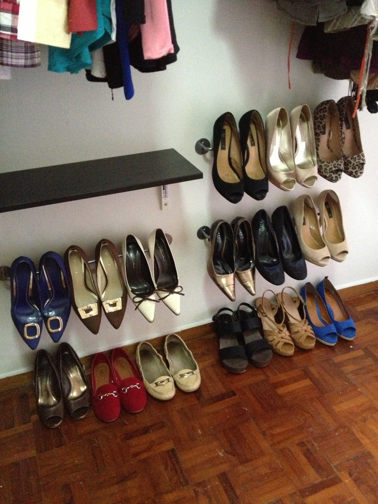 Best ideas about DIY Shoe Rack For Closet . Save or Pin DIY shoe storage for the walk in closet everydayshoes Now.