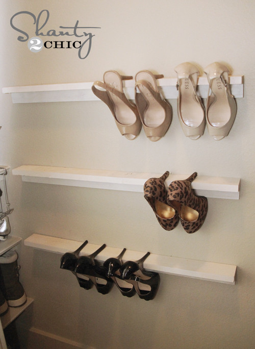 Best ideas about DIY Shoe Rack For Closet . Save or Pin Closet Organization Shoe Organizers DIY Shanty 2 Chic Now.