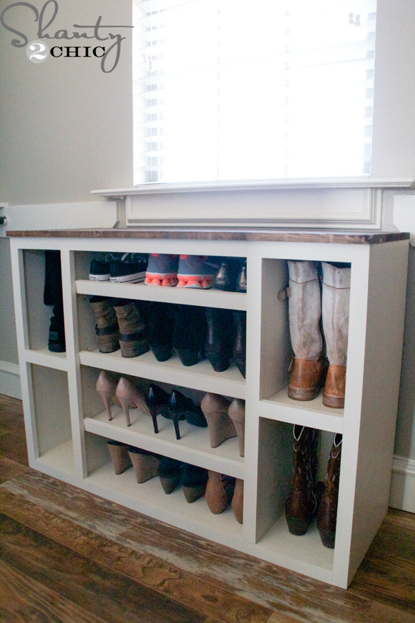 Best ideas about DIY Shoe Rack For Closet . Save or Pin DIY Shoe Storage Cabinet Shanty 2 Chic Now.