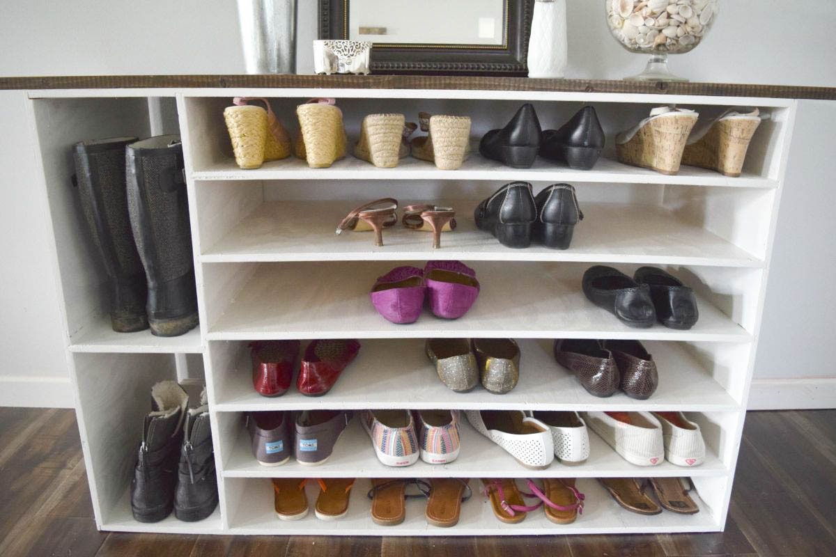 Best ideas about DIY Shoe Rack For Closet . Save or Pin How to make a DIY shoe organizer and rack for the closet Now.