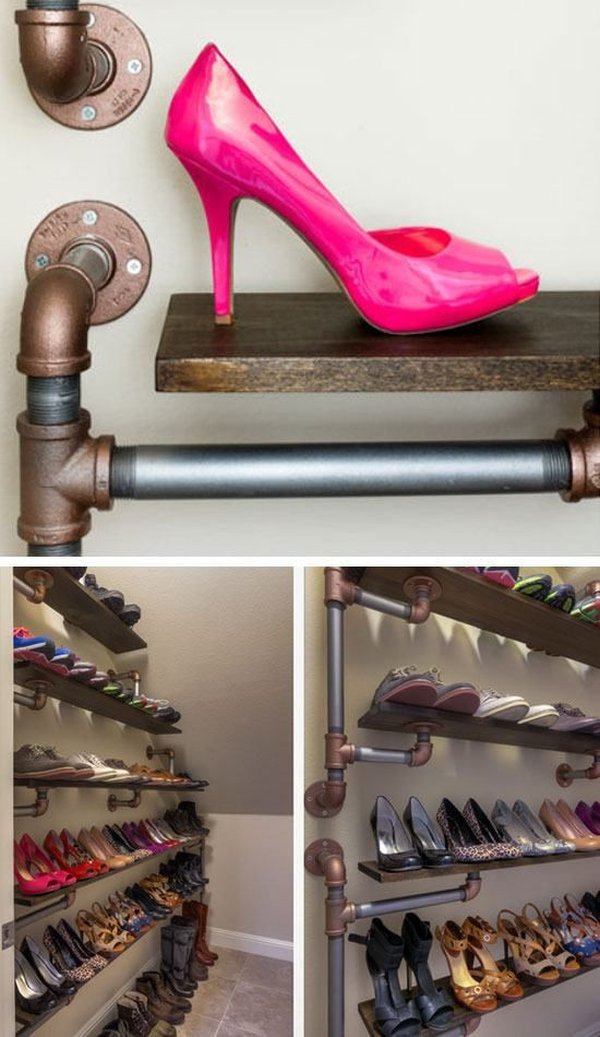 Best ideas about DIY Shoe Rack For Closet . Save or Pin 18 DIY Shoe Storage Ideas for Small Spaces Now.