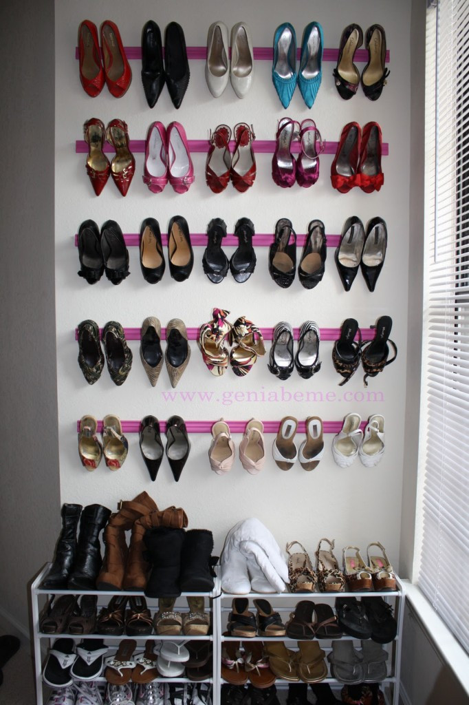 Best ideas about DIY Shoe Rack For Closet . Save or Pin DIY family shoe storage solutions Andrea s Notebook Now.