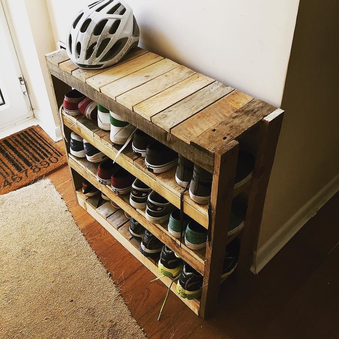 Best ideas about DIY Shoe Rack . Save or Pin Diy shoe rack … Pallet Projects Now.
