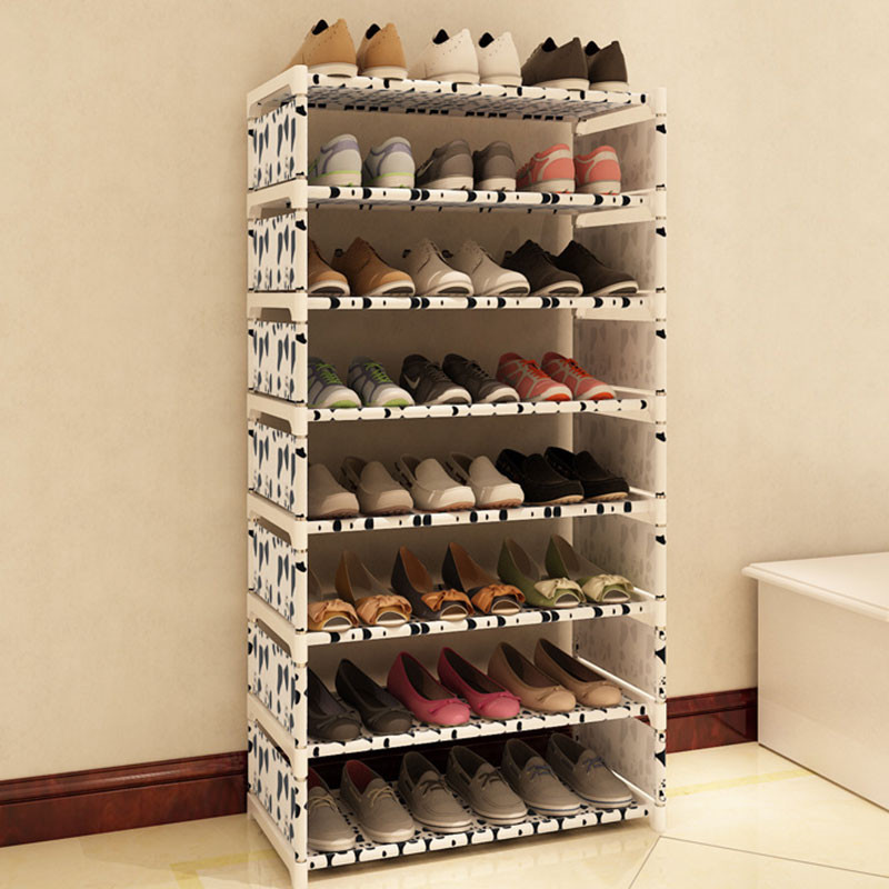 Best ideas about DIY Shoe Rack . Save or Pin Eight Layers Metal Non woven Cloth Simple Shoe Rack Space Now.