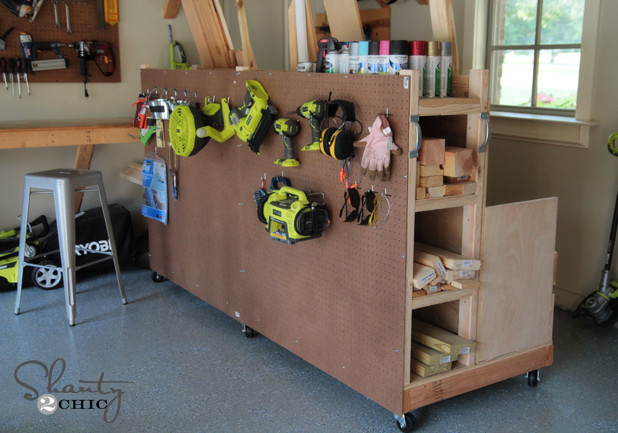 Best ideas about DIY Shop Cabinets . Save or Pin Garage Organization DIY Lumber Cart Shanty 2 Chic Now.