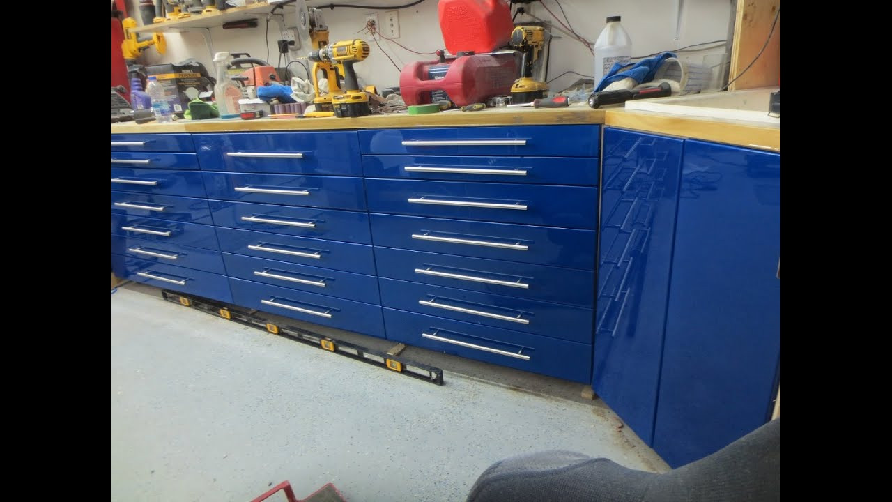 Best ideas about DIY Shop Cabinets . Save or Pin DIY garage cabinets Now.