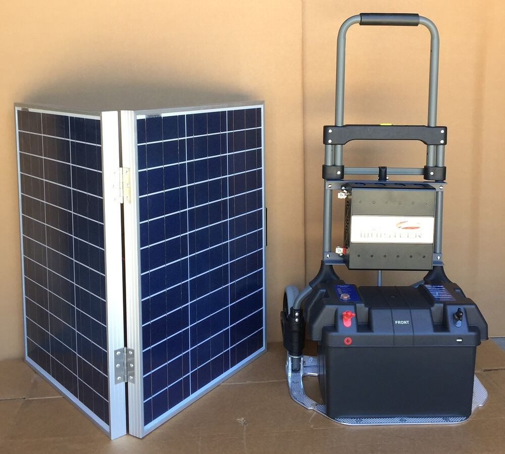 Best ideas about DIY Solar Generator Kit . Save or Pin 1200W Portable Solar Electric Generator Kit with 100W Now.