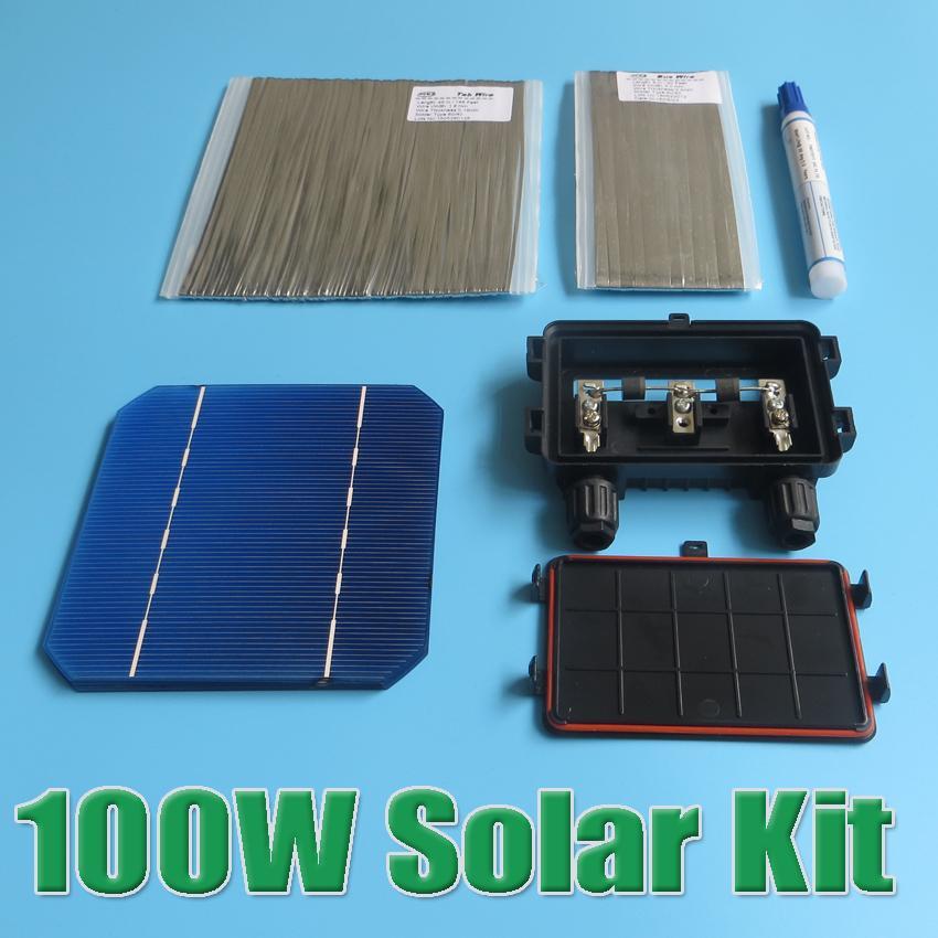 Best ideas about DIY Solar Panel Kit . Save or Pin Hot Sale 100W DIY Solar Panel Kit 5x5 125 Monocrystalline Now.