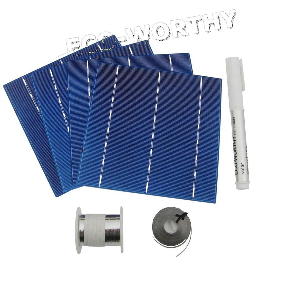 Best ideas about DIY Solar Panel Kit . Save or Pin DIY 100W Solar Panel 25pcs 6x6 Solar Cells Kit w Tab Bus Now.