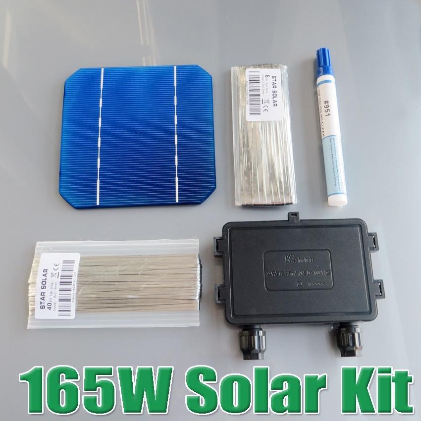 Best ideas about DIY Solar Panel Kit . Save or Pin 165W DIY Solar Panel Kit 6x10 125 Monocrystalline 150W Now.
