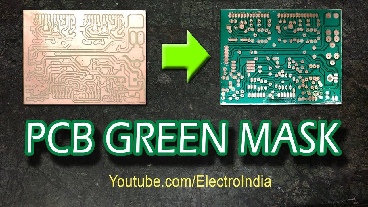 Best ideas about DIY Solder Mask . Save or Pin PCB Solder Green Mask DIY hindi Electronics Now.