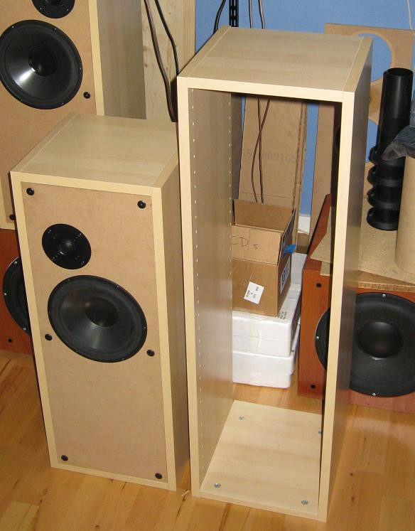 Best ideas about DIY Speaker Cabinet . Save or Pin IKEA kitchen cabinets to make BaffleXchange speaker boxes Now.