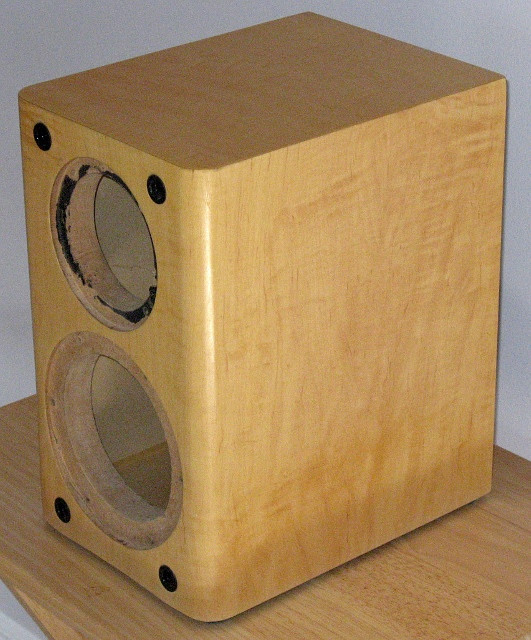 Best ideas about DIY Speaker Cabinet . Save or Pin Maple Finished DIY Speaker Cabinet Center Channel Box Now.