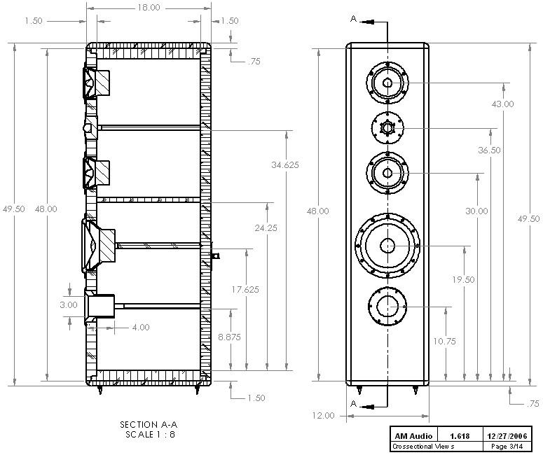 Best ideas about DIY Speaker Plans . Save or Pin DIY 3 Way Hi Vi Tower Loudspeaker Project 1 618 Now.