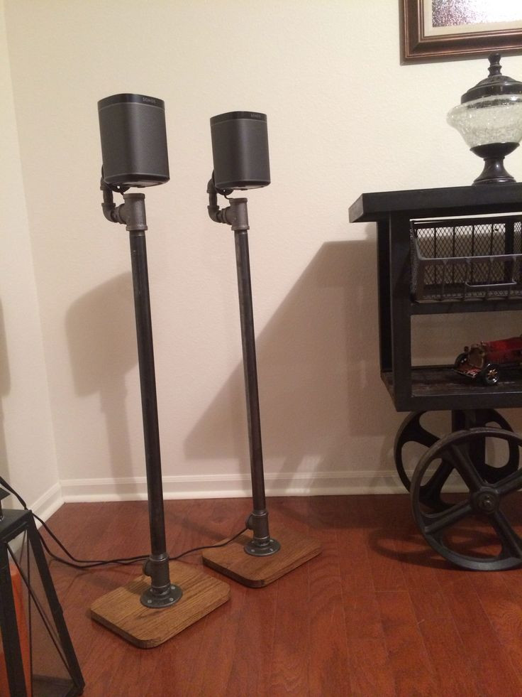 Best ideas about DIY Speaker Stands . Save or Pin Sonos Play 1 DIY vintage industrial style speaker stands Now.