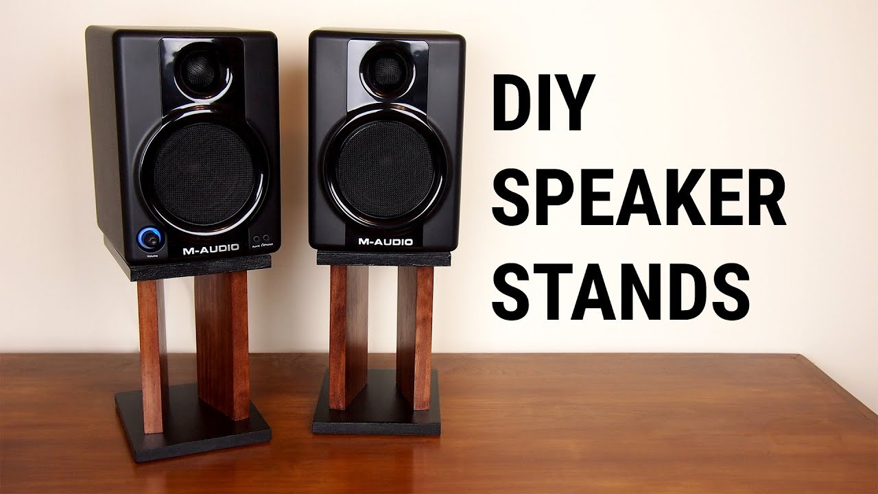 Best ideas about DIY Speaker Stands . Save or Pin DIY Speaker Stands Now.