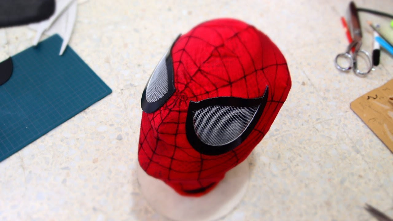 Best ideas about DIY Spiderman Mask . Save or Pin 51 How to Make Spiderman Mask Part 3 Eyes & Webbing Now.