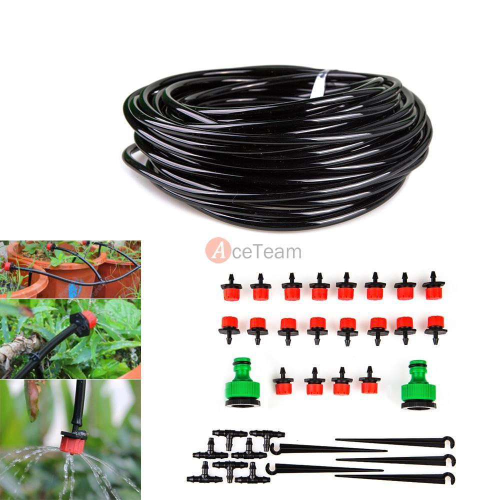 Best ideas about DIY Sprinkler System Kits . Save or Pin 15m 49ft Self Garden Plant Micro Drip Water Irrigation Now.
