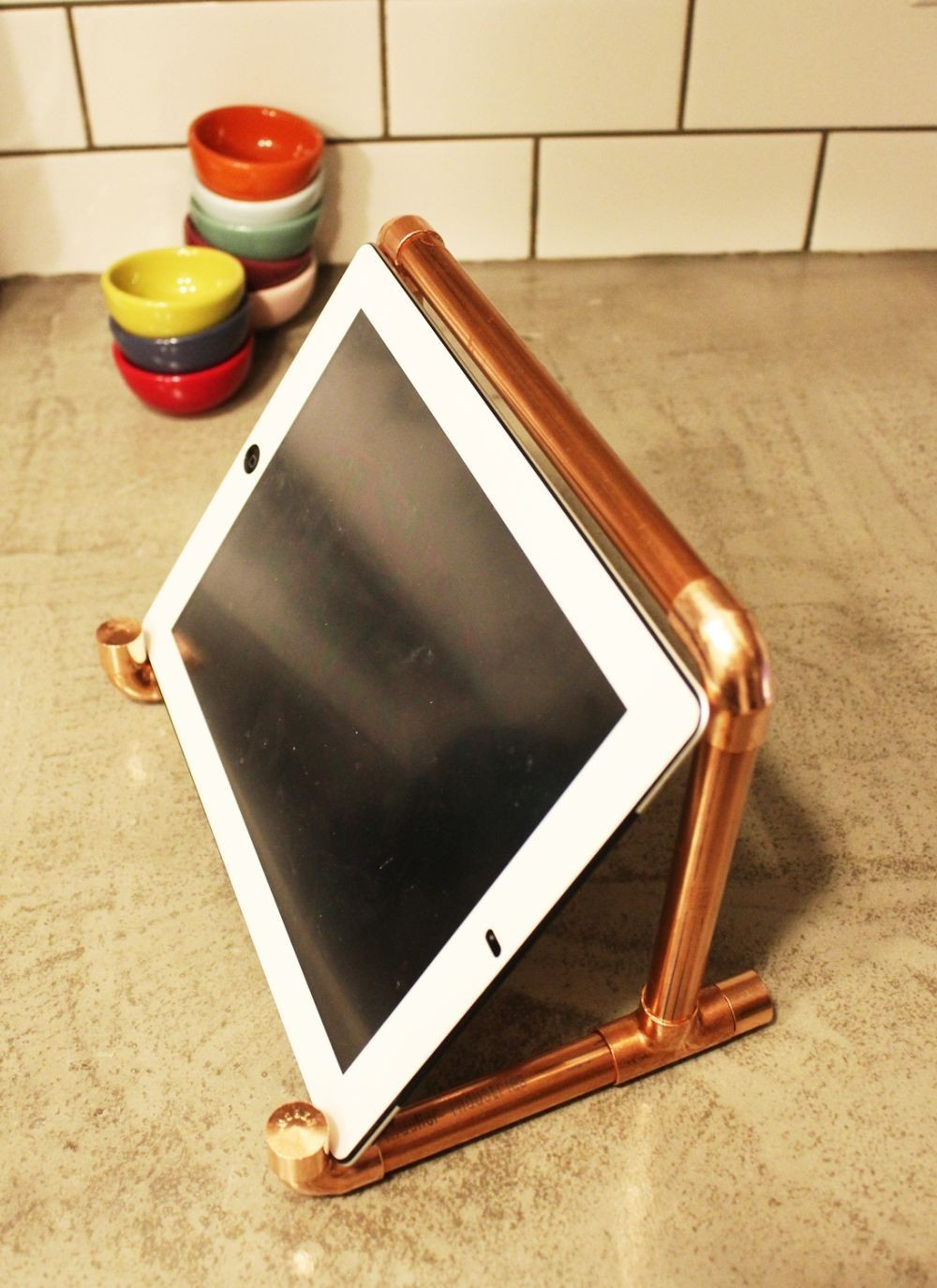 Best ideas about DIY Stand For . Save or Pin DIY Copper Pipe iPad Stand Now.