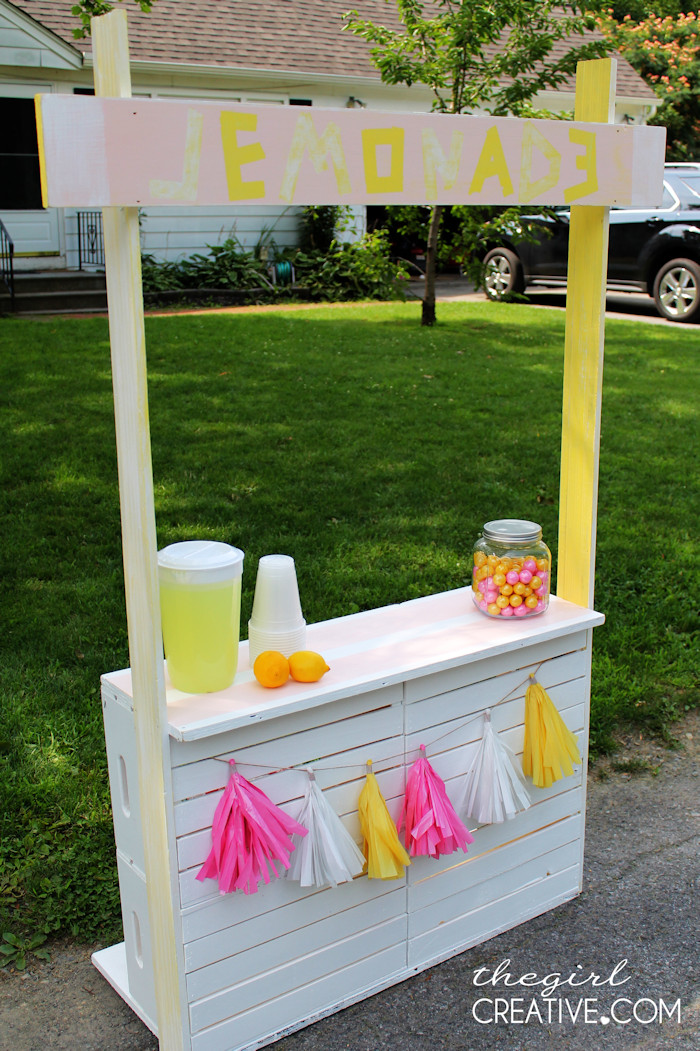 Best ideas about DIY Stand For . Save or Pin DIY Lemonade Stand The Girl Creative Now.