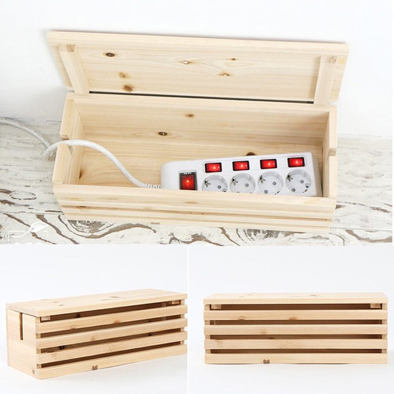 Best ideas about DIY Storage Box Wood . Save or Pin 2017 New Rectangular Cable Storage Box Wire DIY Wood Cable Now.