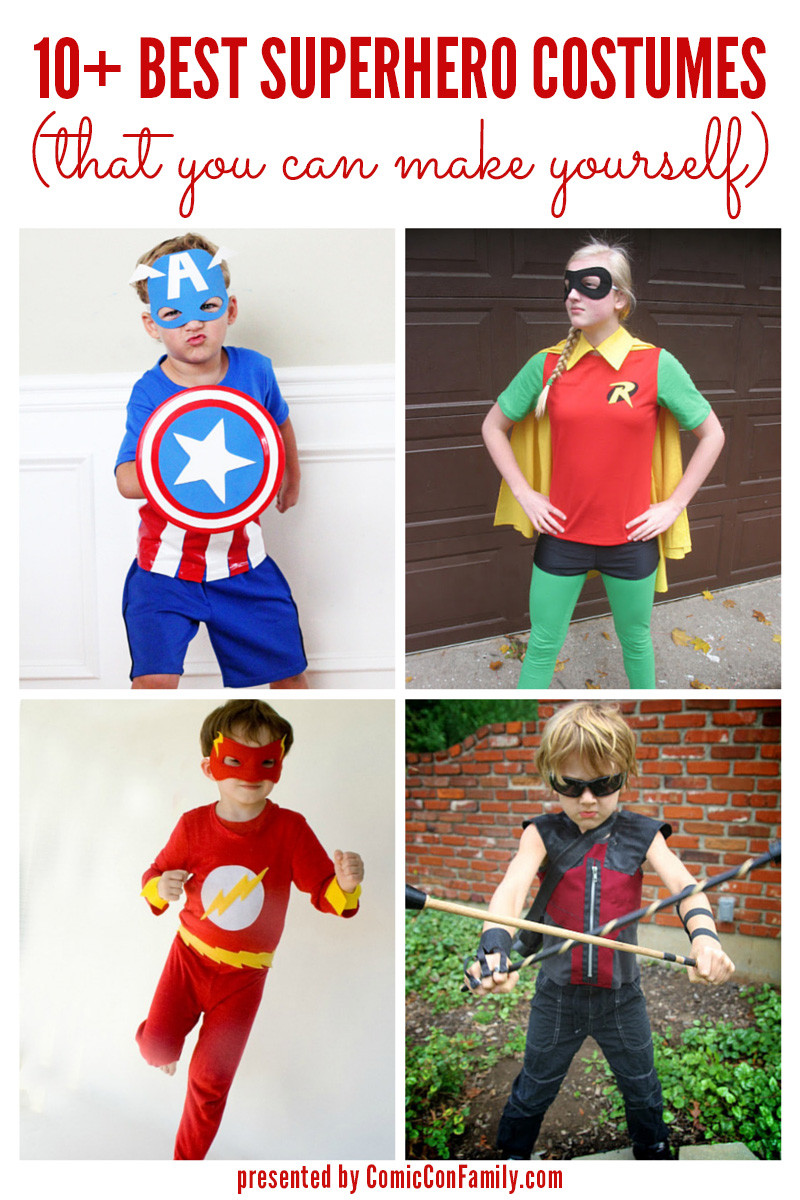 Best ideas about DIY Superhero Costumes For Kids . Save or Pin 10 Best Superhero Costumes that you can make yourself Now.