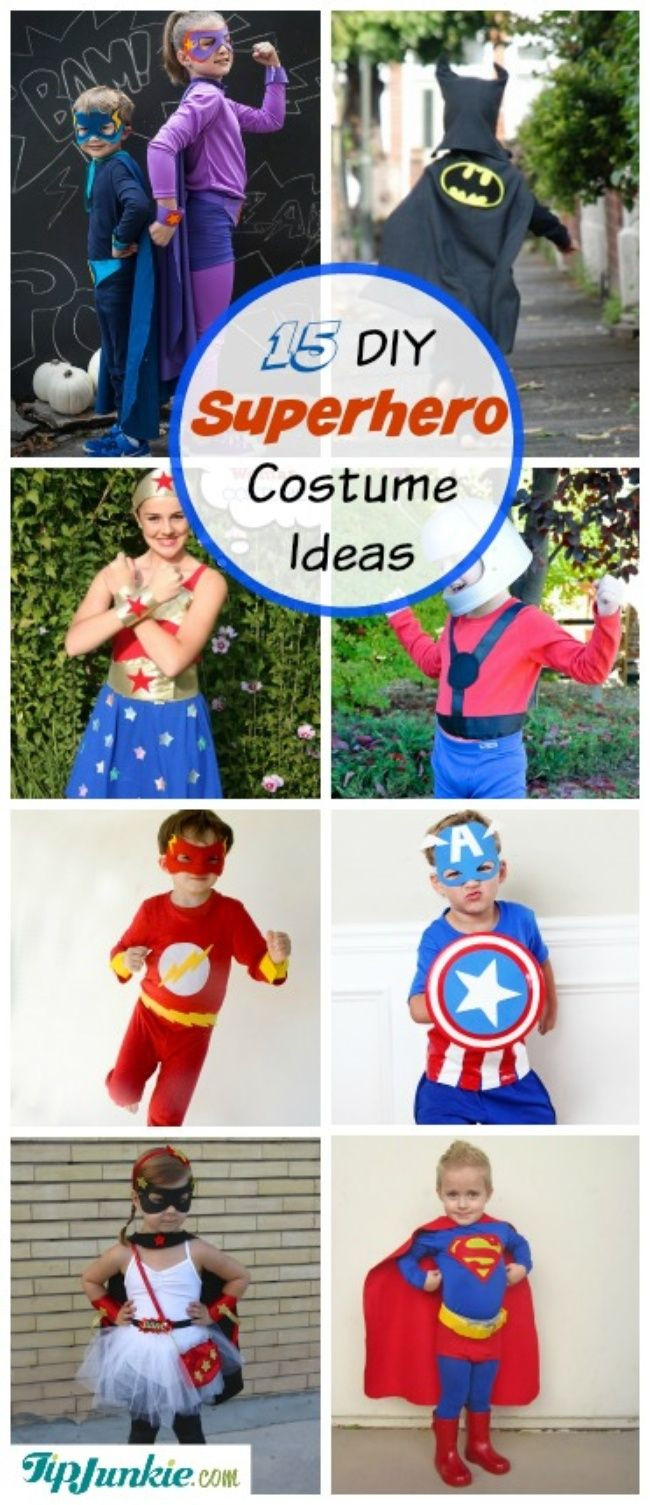 Best ideas about DIY Superhero Costumes For Kids . Save or Pin 15 DIY Superhero Costume Ideas Halloween Now.