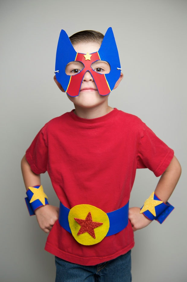 Best ideas about DIY Superhero Costumes For Kids . Save or Pin DIY Simple No Sew Superhero Costume Craft Now.