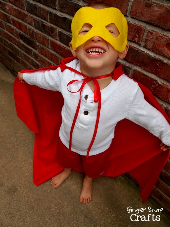 Best ideas about DIY Superhero Costumes For Kids . Save or Pin Ginger Snap Crafts No Sew Super Hero Cape & Mask tutorial Now.