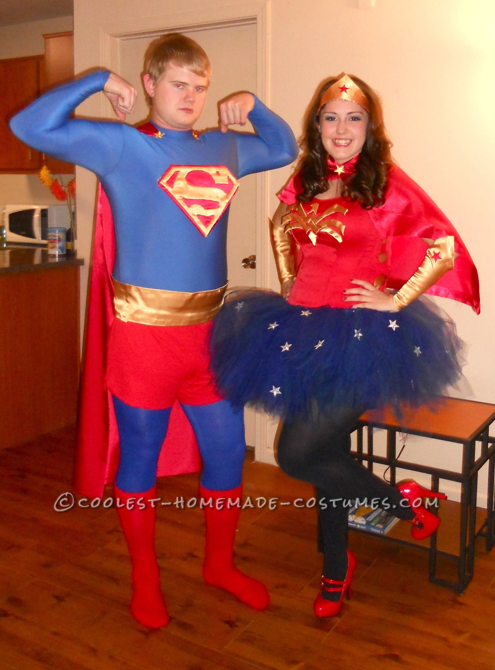 Best ideas about DIY Superman Costume . Save or Pin Coolest Homemade Superman and Wonder Woman Couples Now.