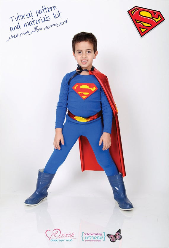Best ideas about DIY Superman Costume . Save or Pin Items similar to Kids SUPERMAN costume DIY costume kit Now.