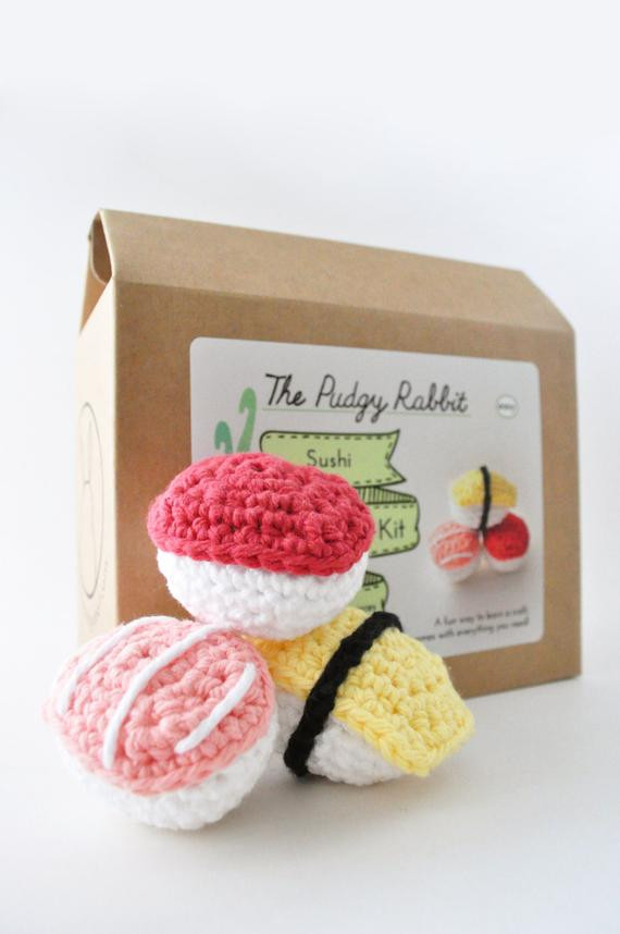 Best ideas about DIY Sushi Kit . Save or Pin Crochet Sushi Kit Amigurumi Kit DIY Craft Learn to Crochet Now.
