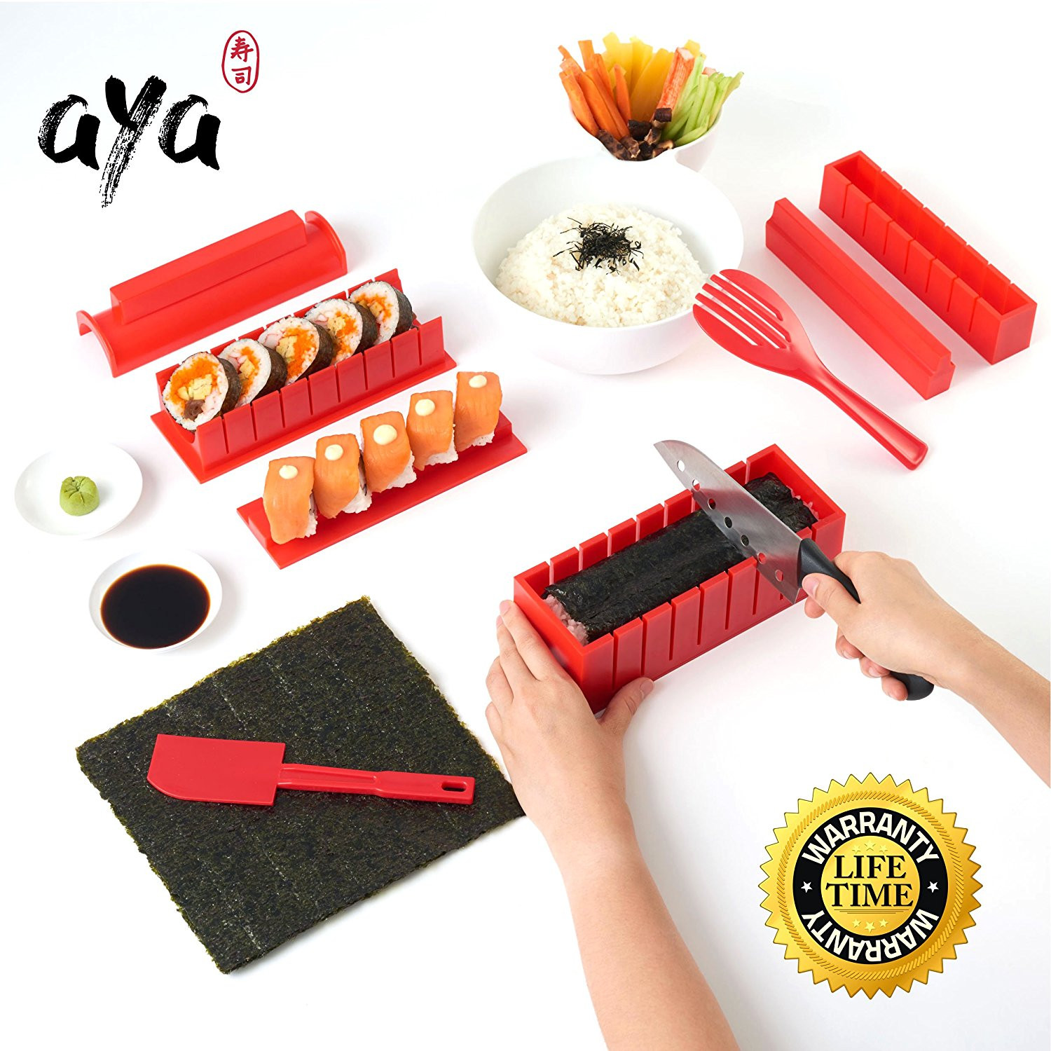 Best ideas about DIY Sushi Kit . Save or Pin 11 Piece DIY Sushi Maker Kit with Sushi Knife for $19 95 Now.