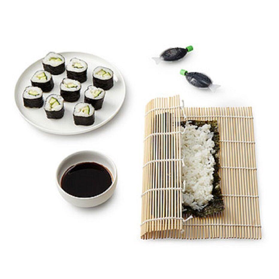 Best ideas about DIY Sushi Kit . Save or Pin Sushi Making Kit DIY Bamboo Rolling Mat Instructions Nori Now.