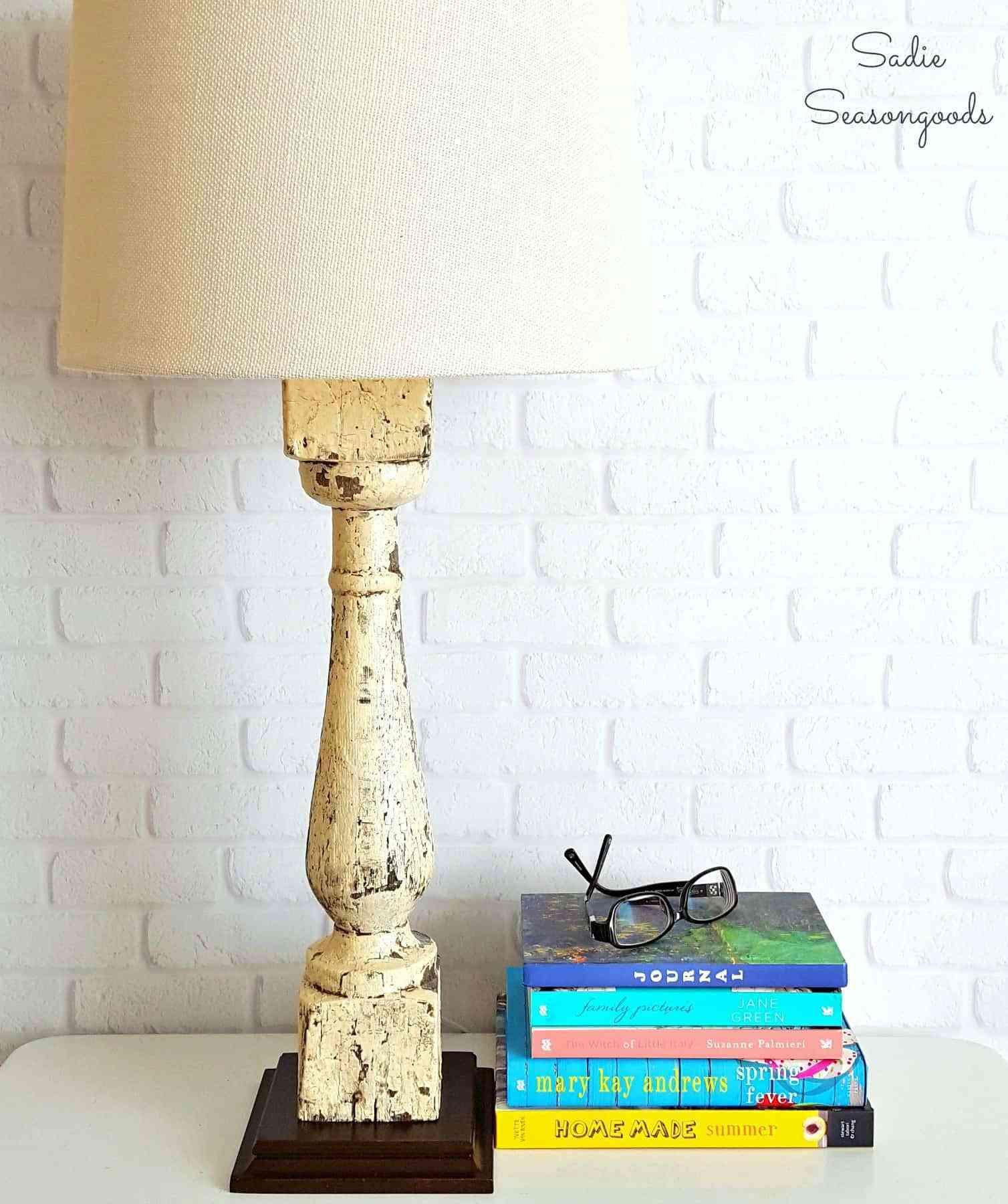 Best ideas about DIY Table Lamps . Save or Pin Salvaged Farmhouse Baluster Repurposed into DIY Bedside Now.