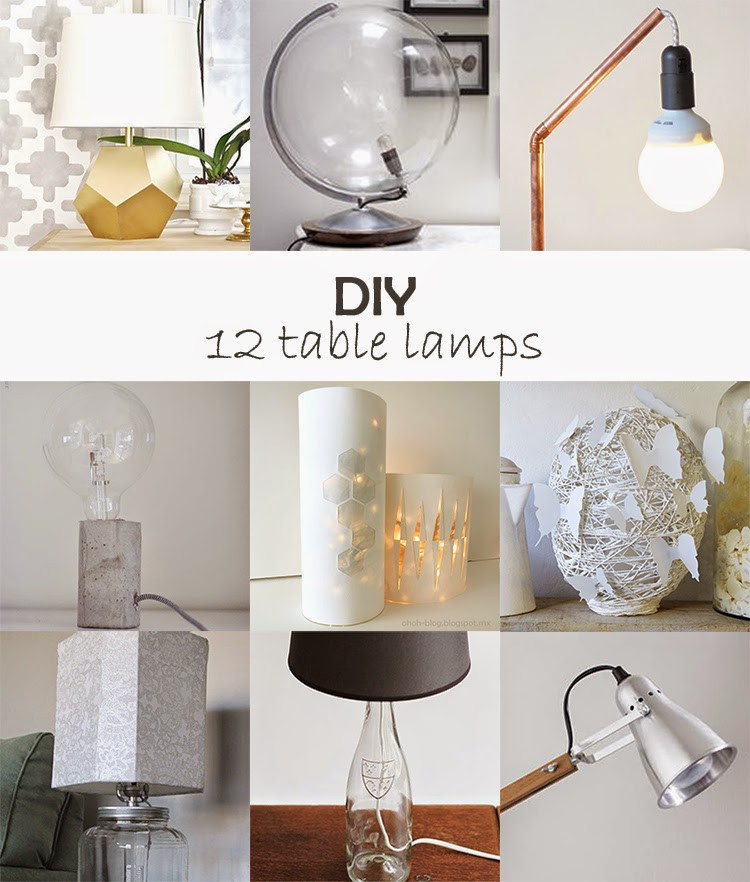 Best ideas about DIY Table Lamps . Save or Pin DIY Monday Table lamps Ohoh Blog Now.