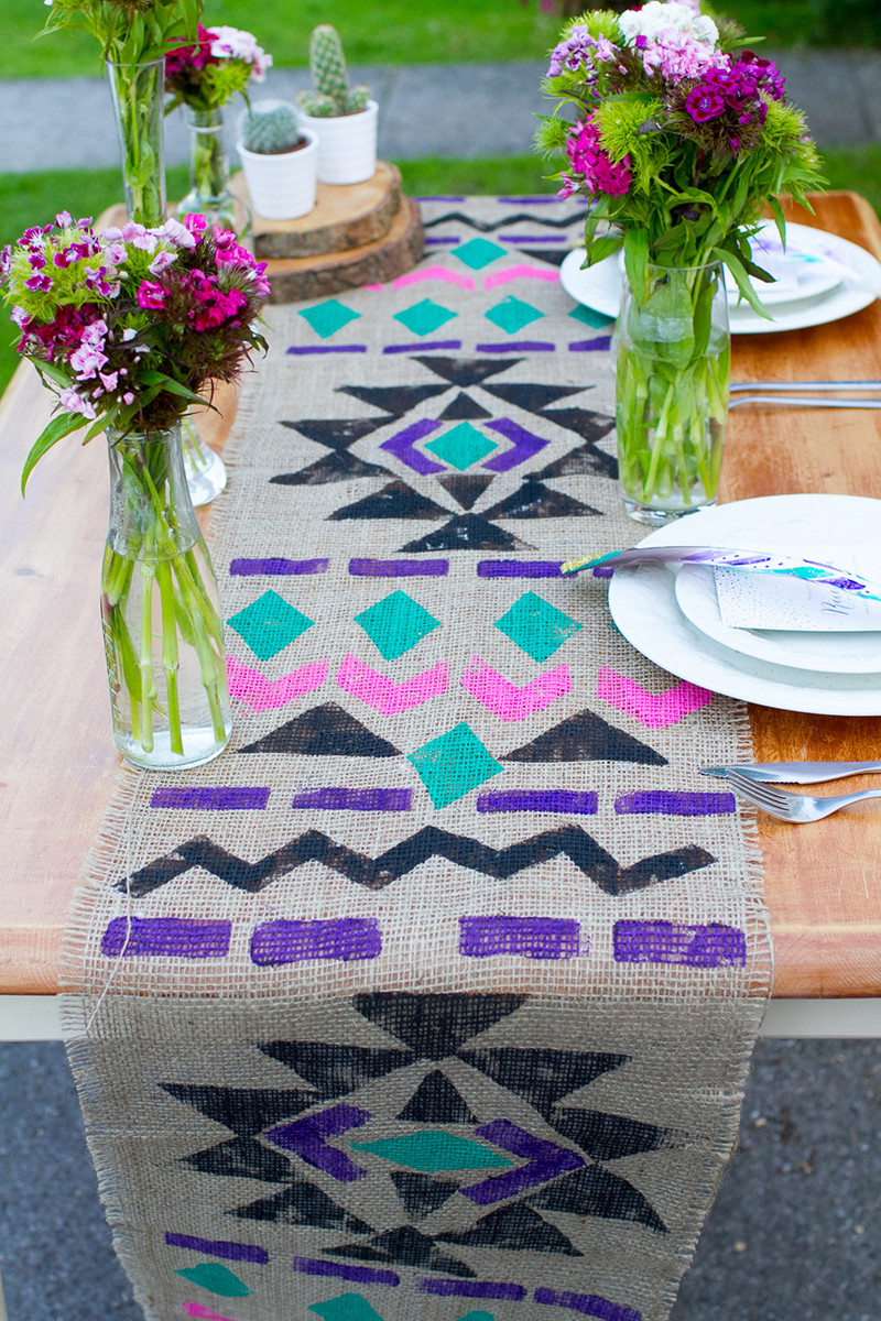 Best ideas about DIY Table Runner Wedding . Save or Pin DIY Aztec Table Runner how to make an aztec table runner Now.
