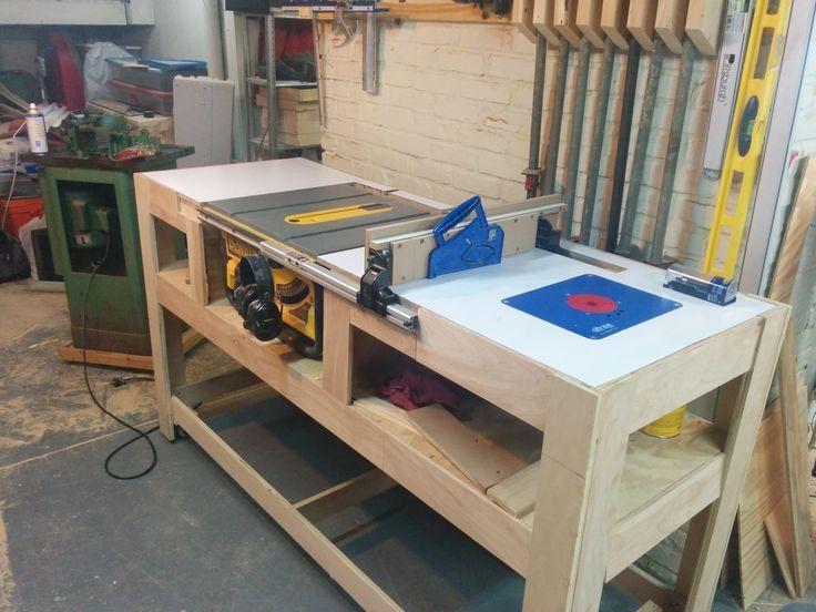 """Best ideas about DIY Table Saw Stand Plans . Save or Pin Résultat de recherche d images pour """"workbench for dewalt Now."""