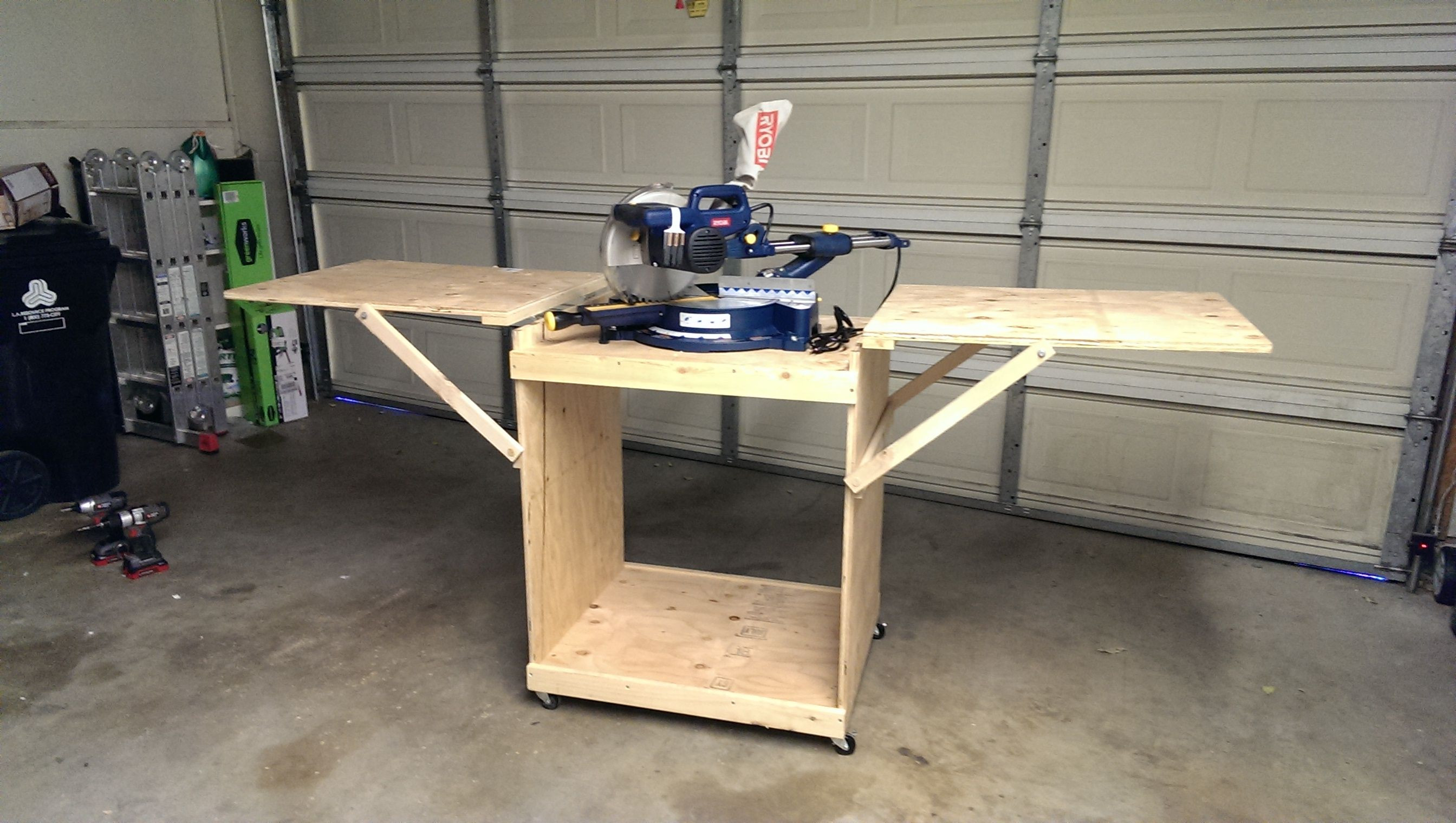 Best ideas about DIY Table Saw Stand Plans . Save or Pin Miter Saw Cart Now.