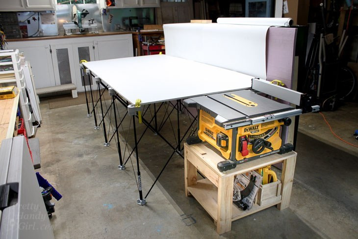 Best ideas about DIY Table Saw Stand Plans . Save or Pin Table Saw Stand and Collapsible Out Feed Work Table Now.