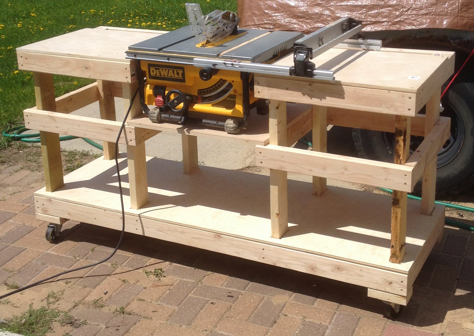 Best ideas about DIY Table Saw Stand Plans . Save or Pin DIY Table Saw Stand on Casters Now.