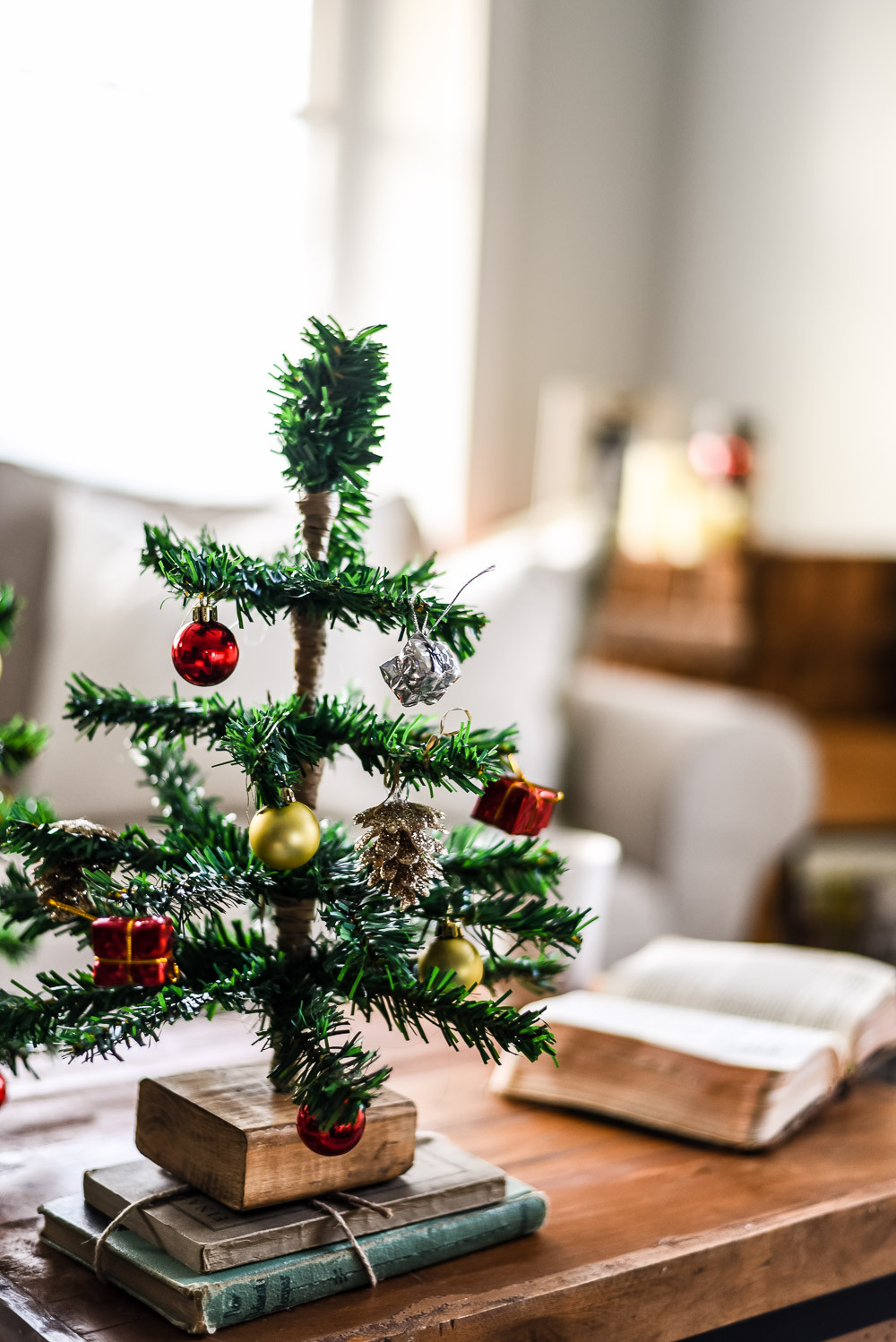 Best ideas about DIY Tabletop Christmas Tree . Save or Pin DIY Mini Tabletop Christmas Tree The Weathered Fox Now.