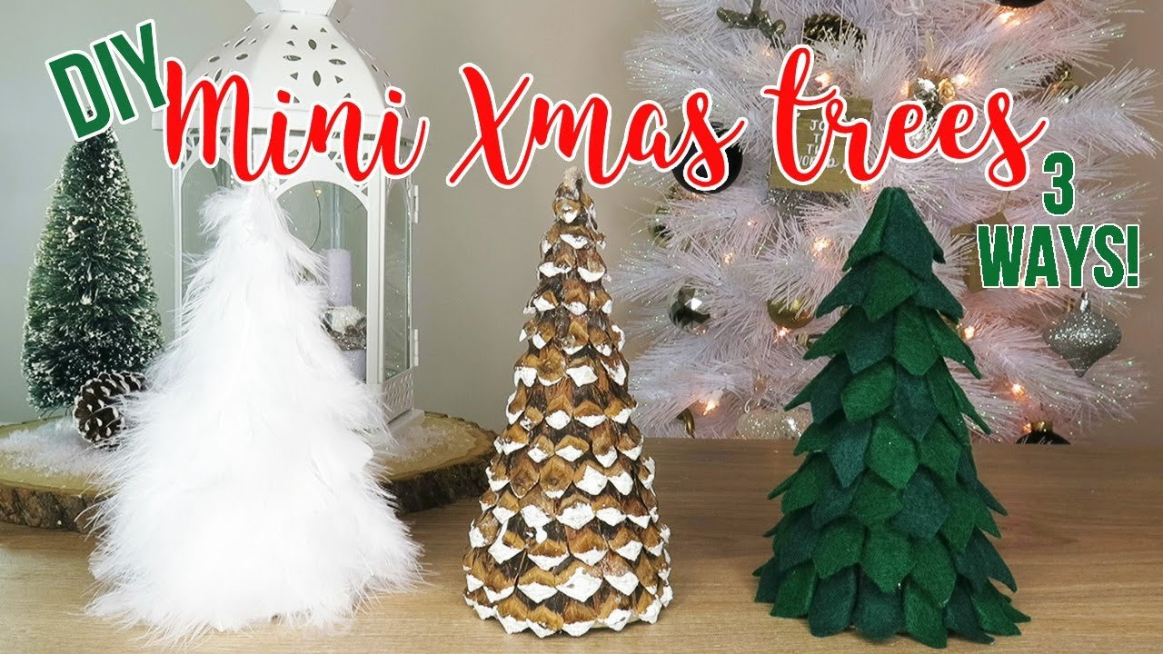 Best ideas about DIY Tabletop Christmas Tree . Save or Pin DIY Christmas Tree Decor Now.