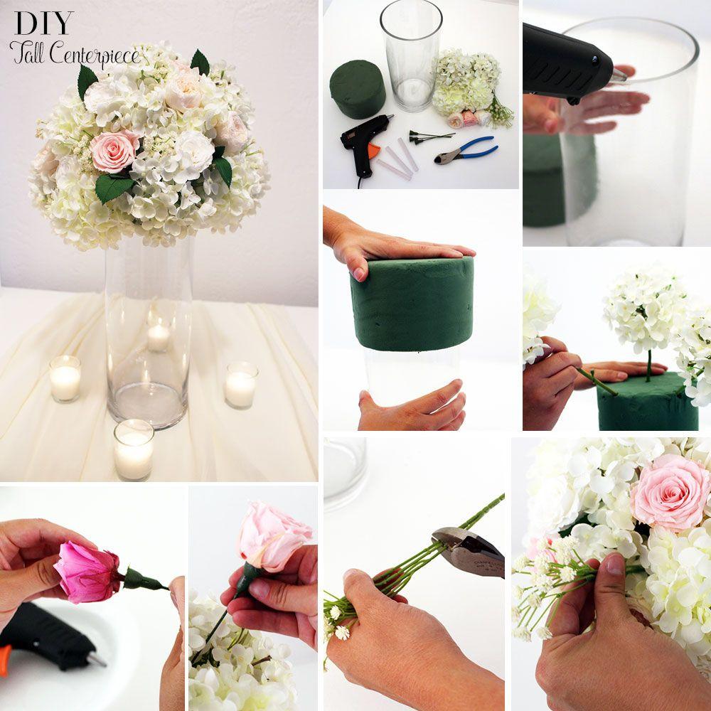 Best ideas about DIY Tall Wedding Centerpiece . Save or Pin DIY Tall Centerpiece Now.