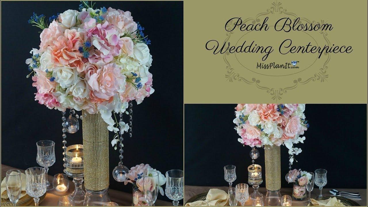 Best ideas about DIY Tall Wedding Centerpiece . Save or Pin DIY Tall Peach Blossom Wedding Centerpiece Now.