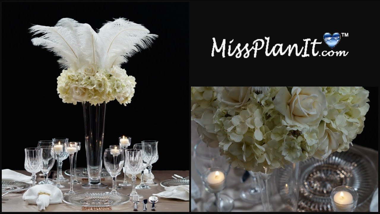 Best ideas about DIY Tall Wedding Centerpieces . Save or Pin DIY Roaring 20 s Tall Wedding Centerpiece Now.