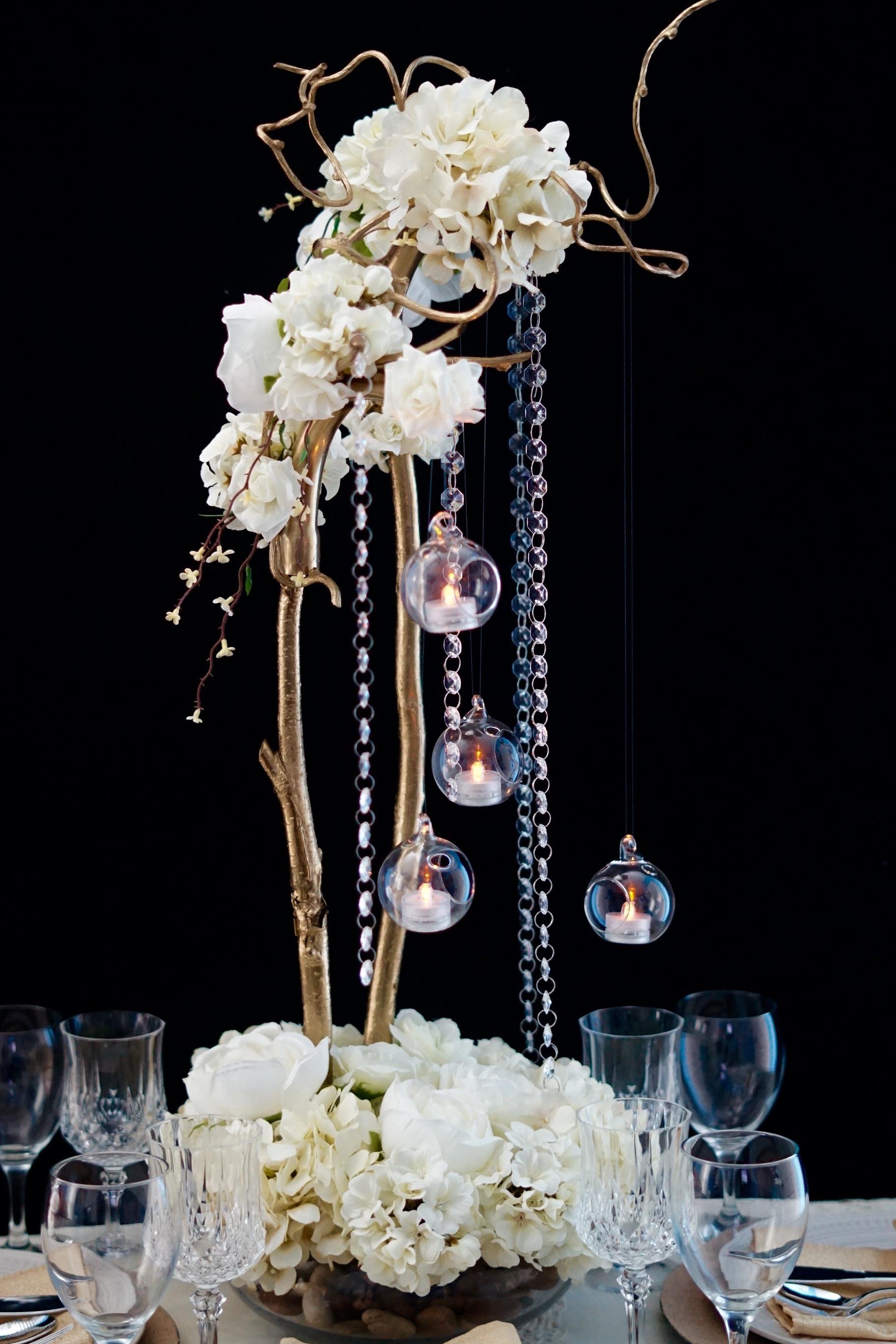 Best ideas about DIY Tall Wedding Centerpieces . Save or Pin DIY Secret Garden Tall Wedding Centerpiece Now.
