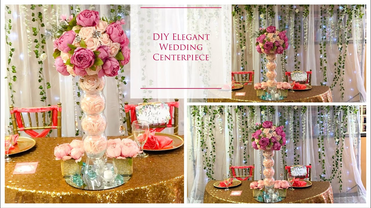 Best ideas about DIY Tall Wedding Centerpieces . Save or Pin DIY Tall Elegant Wedding Centerpiece Now.